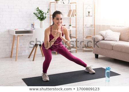 Aerobik fitnessz lány női padló nő Stock fotó © lovleah