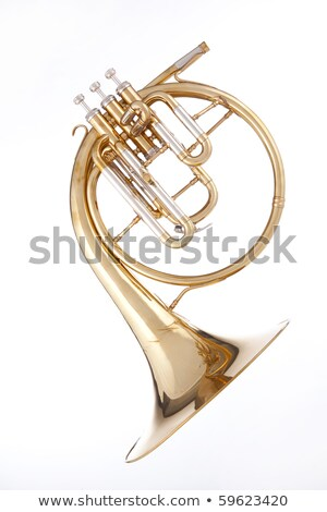Antique Gold French Horn Isolated Stock fotó © mkm3