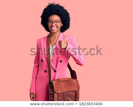 okay success sign by happy black business woman stock photo © darrinhenry