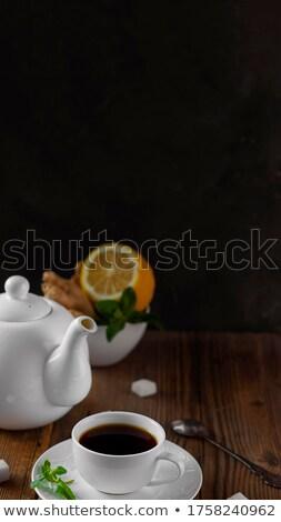 lump sugar and porcelain crockery Stock photo © gewoldi