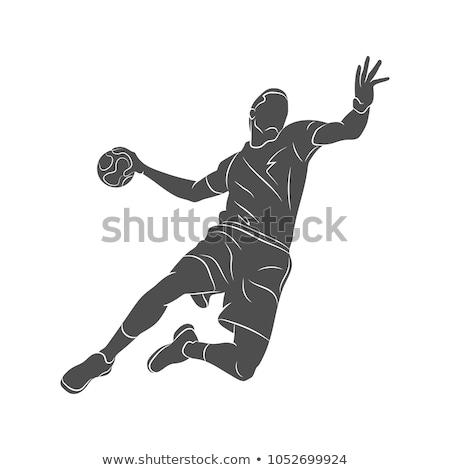 ハンドボール · ショット · 抽象的な · グランジ · スペース · スポーツ - ストックフォト © qingwa