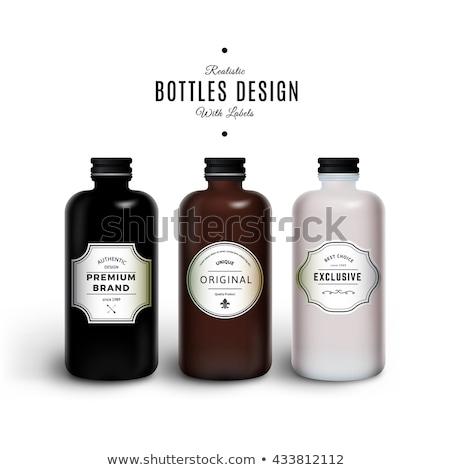 Kleurrijk chocolade flessen voedsel Stockfoto © tito