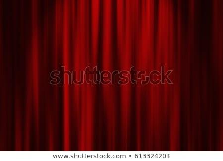 Red drapes stock photo © zeffss