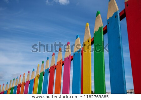 colorful playground and blue sky stock photo © stoonn