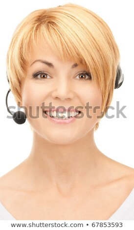 Brillante Foto amistoso femenino línea de ayuda operador Foto stock © dacasdo