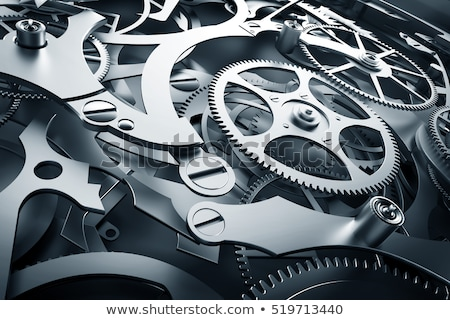 clock mechanic inside, clockwork close up.  Stock photo © inxti