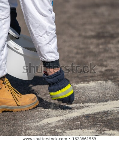 man in fluorescent overalls stock photo © photography33