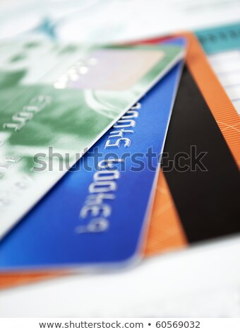 carte · de · crédit · macro · parfait · fond · orange - photo stock © redpixel