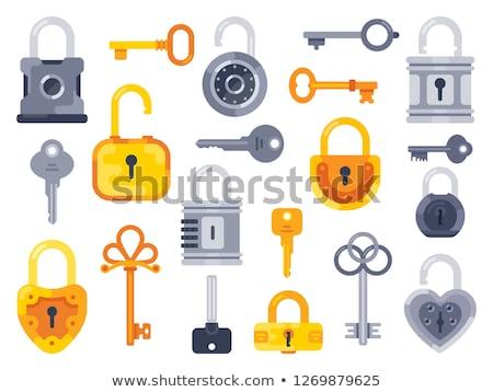 resistiu · porta · trancar · enferrujado · sujo · velho - foto stock © redpixel