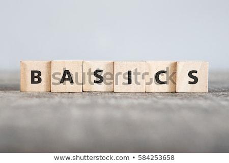 Back to Basics Stock photo © bbbar