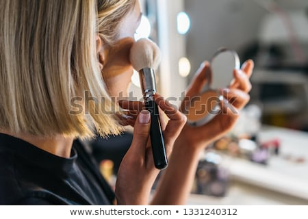 portret · vrouw · make-up · mode · ruimte · huid - stockfoto © konradbak