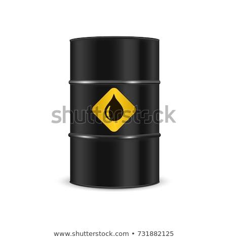 Zwarte metaal olie vat financieren grafiek Stockfoto © oblachko