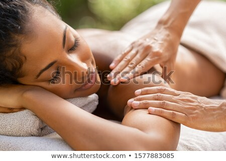 woman receiving relaxing massage stock photo © photography33