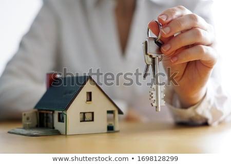 Foto stock: Planos · chave · velho · escritório · papel · casa