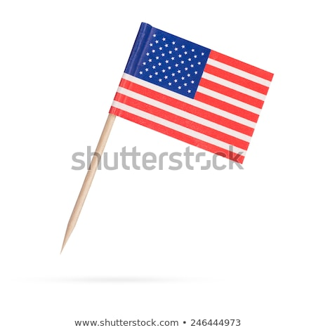 Miniature Flag of USA (Isolated) stock photo © bosphorus