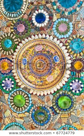Gekleurd tegels verscheidene keramische bloemen Stockfoto © pixelsnap