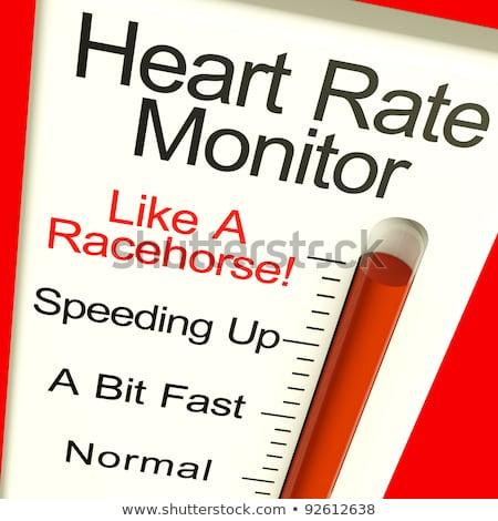 heart rate monitor showing cardiac and coronary health stock photo © stuartmiles