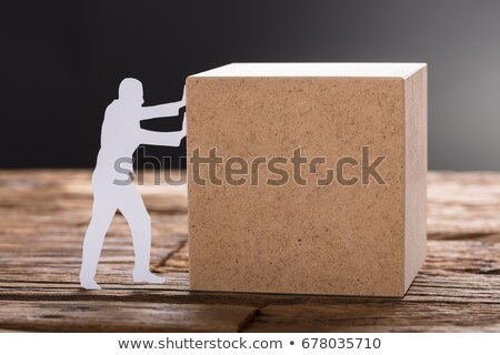 Businessman pushing against empty copyspace stock photo © photography33