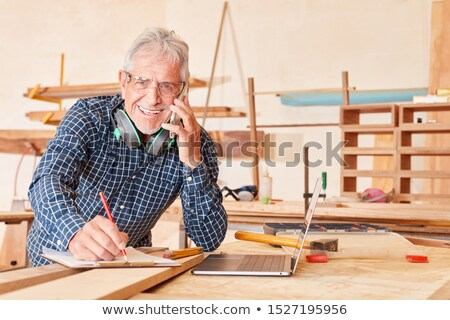 craftsman taking notes Stock photo © photography33