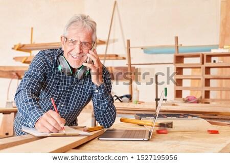 imprenditore · prendere · appunti · cucina · costruzione · strumenti · lavoratore - foto d'archivio © photography33