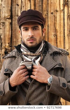 romantikus · stílus · fotó · jóképű · férfi · város · divat - stock fotó © curaphotography