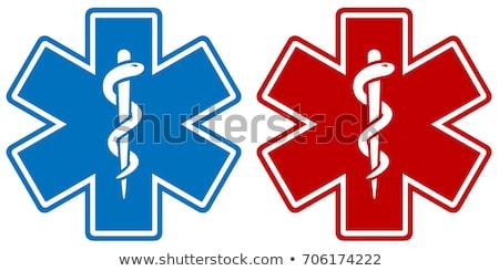 Foto stock: Médicos · estrellas · símbolos · aislado · blanco · medicina