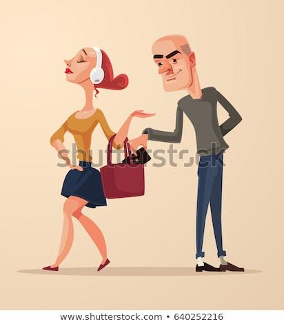 tolvaj · pénztárca · férfi · üzlet · kéz · fehér - stock fotó © shutswis