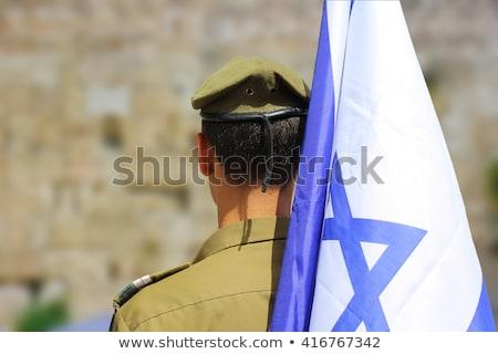exército · Israel · quadro · guerra · serviço · silhueta - foto stock © perysty