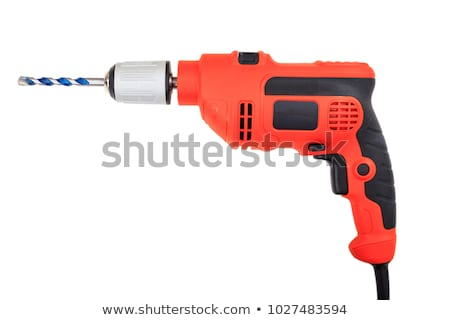 hands handling an electric drilling machine Stock photo © shutswis