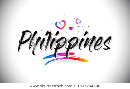 Mektup Filipinler ofis kâğıt soyut dizayn Stok fotoğraf © perysty