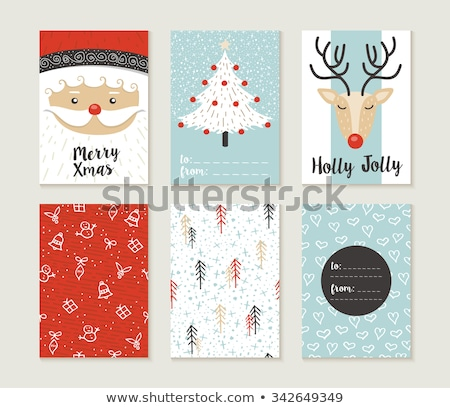 Cute kleur decoraties christmas plaats Stockfoto © Elmiko