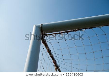 voetbal · groen · gras · Blauw · hemel · sport · natuur - stockfoto © sandralise