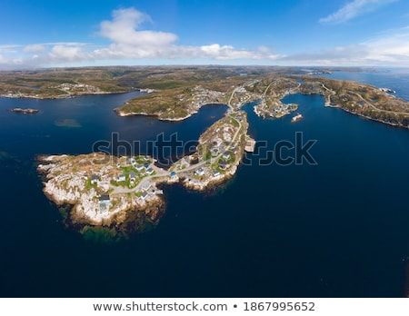 Rural town on the Coast of Newfoundland Stock photo © wildnerdpix