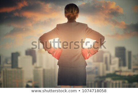business · teken · boksen · vrouw · boos · zakenvrouw - stockfoto © feedough