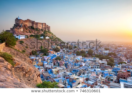 erőd · India · panoráma · város · utazás · indiai - stock fotó © prill