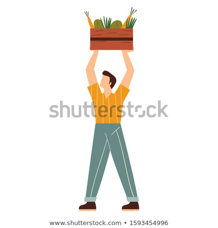 Man holding box of wood to be recycled Stock photo © photography33