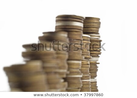 Towers assembled of money. Recession or growth Stock photo © Arsgera