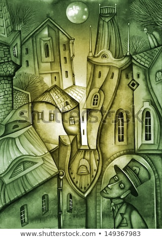 schilderij · schilder · werken · binnenkant · werk - stockfoto © prill