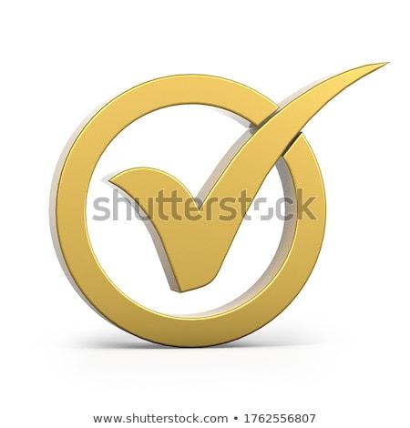 3D isolé blanche succès concept vérifier Photo stock © kitch