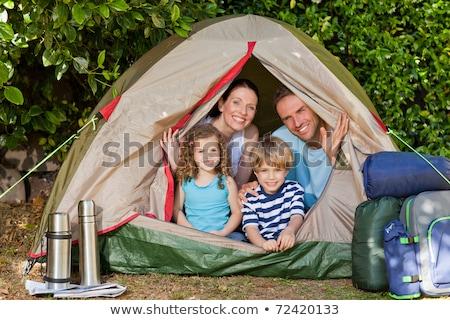 famiglia · felice · camping · spiaggia · felice · giovani · famiglia - foto d'archivio © wavebreak_media