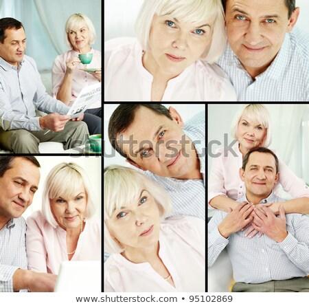 Collage of senior couples spending time together indoors Stock photo © wavebreak_media