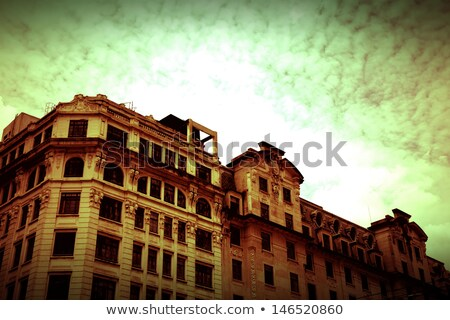 polluted sao paulo   retro image stock photo © spectral