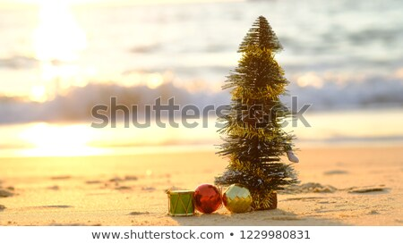 Christmas Ornament at Sunrise on a Beach Stock photo © oliverjw