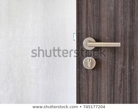 door handle on wooden background stock photo © cammep