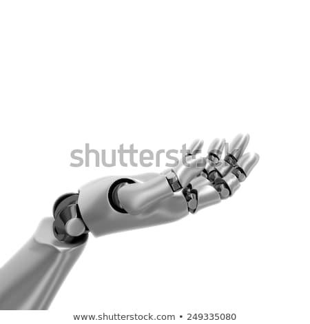 ロボット 手 中心 3dのレンダリング 金属 ストックフォト © AlienCat