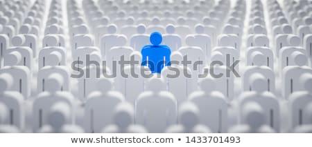 Individualiteit permanente uit netwerk menigte geslaagd Stockfoto © Lightsource