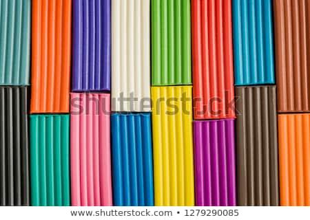 красочный · глина · кегли · продовольствие - Сток-фото © len44ik