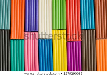 Rainbow colors plasticine bars, modeling clay  Stock photo © Len44ik