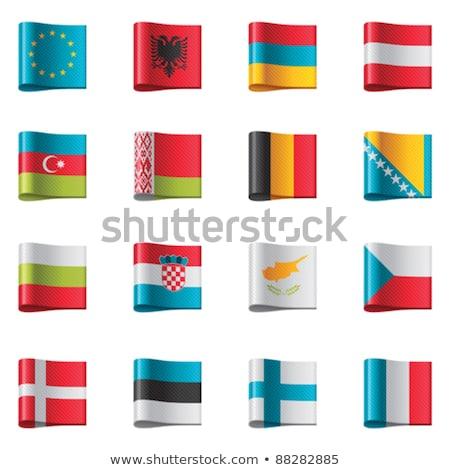 De Europese Unie vlaggen pictogrammen instellen deel 1 Stockfoto © tele52