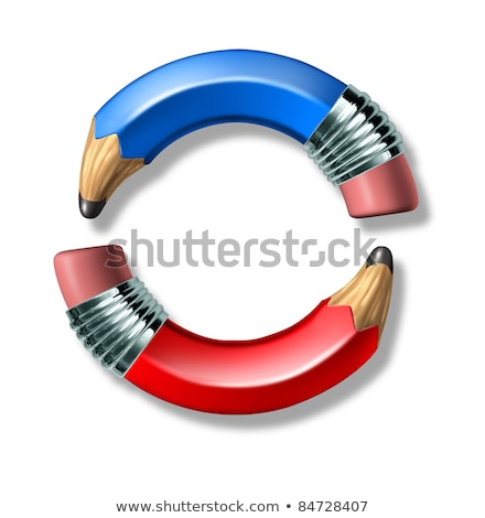 Stock photo: Vote symbol with curved pencils